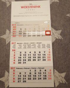 termijnen en weeknummers